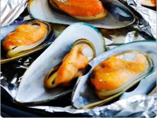 Grilled Blue mussels